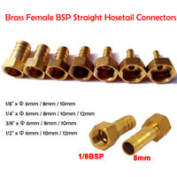 """1/2"""" 3/8"""" 1/4"""" 1/8"""" Brass Female Straight Connector Barbed connecting Hose tails"""