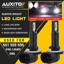2X AUXITO 881 889 898 Fog Light Driving Bulbs Kit DRL 6000K LED Super White EOA