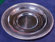P.S CO STERLING SILVER 209  NUT BON BON RETICULATED BOWL TRAY 83563 DW