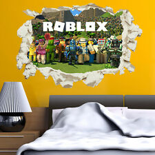 Roblox Wall Sticker Decal Smashed Crack Game Kids Bedroom Children's Gaming V2