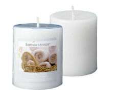 2-PACK Luminessence Fresh Linen Scented Pillar Candle Relaxing Atmosphere