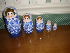 "Gabriella'S Gifts-6"" Russian Nesting Dolls-6""H-5 Pc Set-B-Blue-As Shown New-2018"