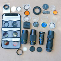 Mixed Lot Camera Lens Filters Lot Bag2 vintage parts ASIS Props Steam Art GU