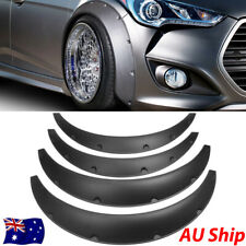 4'' 100mm Universal Flexible Black Fender Flares Durable ABS Wheel Arches 4 Pcs