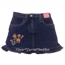 Gymboree Wildflower Fields Denim Skort / Skirt Sz 5 NWT Floral Orange Flowers