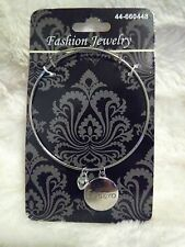 """Bracelet Fashion Jewelry with Heart and """"Espero"""" (Spanish for hopeful) Charms"""