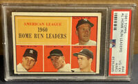 1961 Topps #44 AL HR Leaders PSA 4 (MC) Mickey Mantle Roger Maris Colavito Lemon
