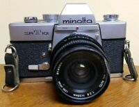 Minolta SRT 101 Camera with Minolta 28mm f2.8 Super Abinon MC Auto lens Nice