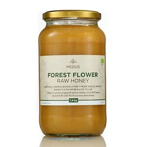 1.4kg Forest flower RAW ORGANIC Honey PURE NATURAL 2020 harvest unpasteurized