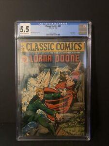 Classic Comics 32 Lorna Doone CGC 5.5 1946 1st Edition Matt Baker Cover & Art
