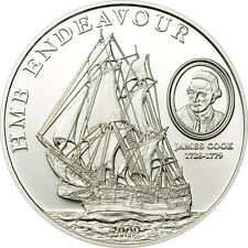 HMB Endeavour of James Cook 5$ Cook Islands 2009 Silver Coin