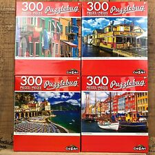 NEW Set of 4 Architecture Themed Puzzlebug 300 Piece Puzzles - Italy City Bay