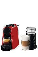 NEW by Delonghi Essenza Mini & Milk capsule coffee machine: EN85RAE Red
