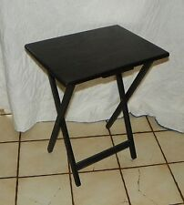 Oak Black Distressed TV Tray Table / Side Table  (T404)