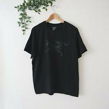 ARC'TERYX Men's Short Sleeve Crew Neck Cotton Logo Shirt L Large Black