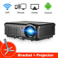CAIWEI A6 Smart Android Home Theater Video Projector Indoor Party HD 1080p+Stand
