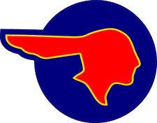 "#787 4"" Pontiac Indian Head GTO Trans Am Le Mans Cheiftan Decal Sticker Red/Blue"