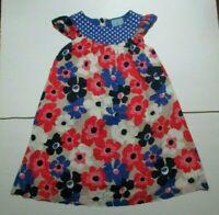 GIRLS JOHN LEWIS PINK & BLUE FLORAL POLKA DOT DRESS SIZE 6