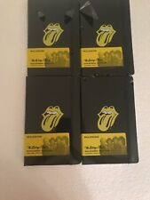 Wow Deal! Moleskine -The Rolling Stones Limited Edition Ruled Notebook Lot Of 4