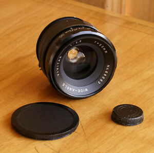 Vivitar 35mm f2.8 Konica F Mount Wide Angle Lens Made in Japan
