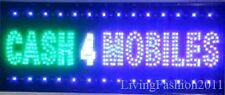 Flashing CASH 4 for MOBILES LED sign board new window Shop signs