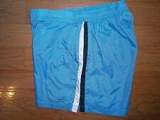 Womens Nike Nylon Shorts M 8-10 Sky blue w/ White & Black Athletic sport Fitness
