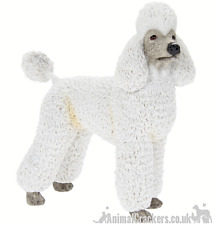 Poodle Mini Figurine White Sport Cut