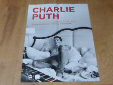 CHARLIE PUTH - 2018  !!RARE FRENCH PROMO POSTER!!!!!!!!!!