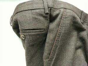 Hugo Boss Flanell Tweed Hose Grau Braun Größe 50
