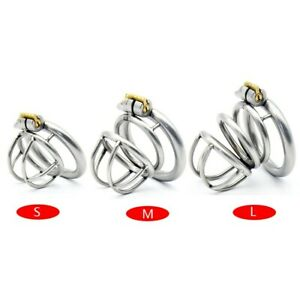 Male Locking Stainless Steel Chastity Device 3 Size Chastity Cage  A231