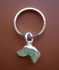 Sterling Silver German Shorthaired Pointer Large Head Key Ring