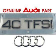 Genuine Audi 40 TFSI rear boot lid hatch badge emblem. A3 A4 A5 A6 A7 TT OEM  G2