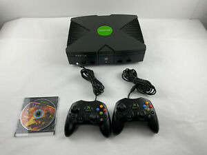 Original Microsoft Xbox Console Only 2 Controllers With Game No Cables Tested⭐️
