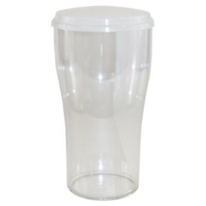 Single Elite Tulip 2 Pint CE Marked Polycarbonate Clear Glass with Lid