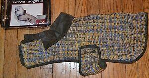 Doggiduds Woven Boucle Coat Waffle Weave Texture Sports Dog Coat  Size Large