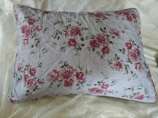 Simply Shabby Chic Pillow Sham Purple Berry Rose Hand Quilted  Nice
