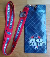 MLB World Series 2015 Lanyard Ticket Holder Pin I Was There KC Royals - NY Mets
