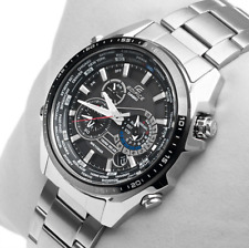 CASIO MEN'S EQS500DB1A1 EDIFICE TOUGH SOLAR STAINLESS STEEL MULTI-FUNCTION WATCH