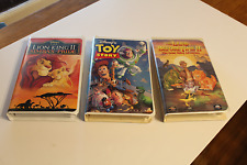 LOT VHS Disney Lion King II Simba's Pride, Toy Story, Land Before Time II (MCA)