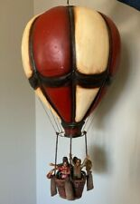 "Vintage Hot Air Balloon Hanging Sculpture Resin Figure Art Decor 24"" large"