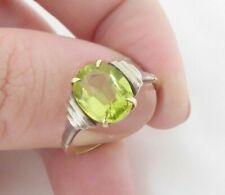 deco period 9k 375 9ct gold peridot ring, art