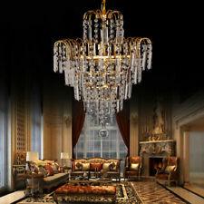 Ridgeyard Chandelier Ceiling Pendant Lights Modern Elegant Crystal Lamp Fixture