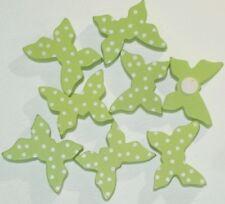 6 Papillons Vert Anis Relief autocollant Décoration de Table Fête Anniversaire