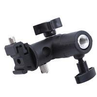 Hot Shoe Swivel Mount Photo Umbrella Holder Bracket Flash Light Stand Adapter L