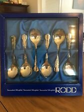 Rodd Silverware Antique Silverplated Camille Soup Spoons 1920's