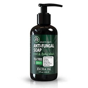 Antifungal Antibacterial Soap & Body Wash - Natural Fungal Treatment with Tea &