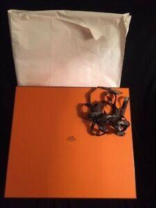 HERMES grande boîte 37/33/15cm pour sac Birkin + ruban  Excellent état