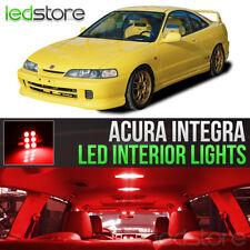 1994-2001 Acura Integra Red Interior LED Lights Kit Package