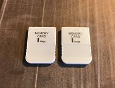 2x 1MB Memory Card for the Sony PlayStation 1 PS1! US SELLER! Fastest Shipping!