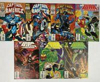 Mixed Lot 7 Avengers-1994 Captain America-1996 War Machine Marvel Comics MINT L6